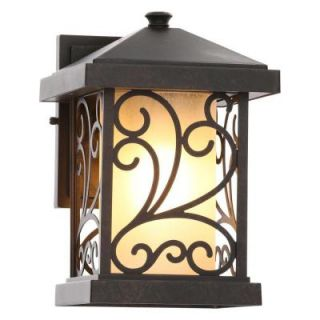 Progress Lighting Cypress Collection 1 Light Forged Bronze Outdoor Wall Mount Lantern P5930 77
