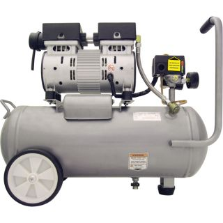 California Air Tools Ultra-Quiet Oil-Free Air Compressor — 1 HP, 5.5-Gallon Horizontal, Model# 5510SE  1   10 Gallon Air Compressors