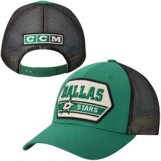 Dallas Stars CCM Logo Trucker Hat   Green/Black