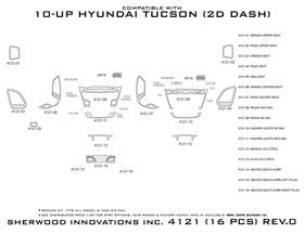2010 2013 Hyundai Tucson Wood Dash Kits   Sherwood Innovations 4121 N50   Sherwood Innovations Dash Kits
