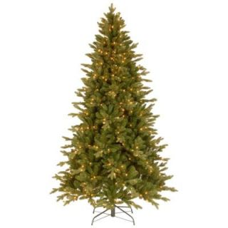 National Tree Company 7 1/2 ft. Feel Real in Avalon Spruce Hinged Artificial Christmas Tree with 500 Clear Lights PEAV7 309 75