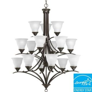 Progress Lighting Trinity Collection 15 Light Antique Bronze Chandelier P4365 20EBWB