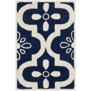 Safavieh Handmade Moroccan Chatham Dark Blue/ Ivory Wool Rug with