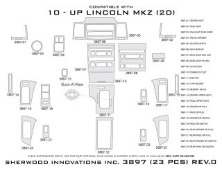 2010, 2011, 2012 Lincoln MKZ Wood Dash Kits   Sherwood Innovations 3897 CF   Sherwood Innovations Dash Kits