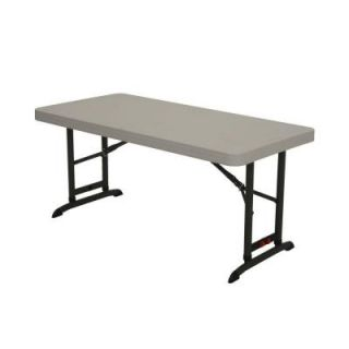 Lifetime 4 ft. Almond Commercial Adjustable Folding Table 80387