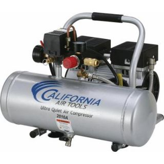 California Air Tools 2.0 Gal. 1.0 HP Ultra Quiet and Oil Free Aluminum Tank Air Compressor 2010A